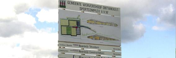 kramer_belettering_bouwbord_wervershoof_sportcomplex